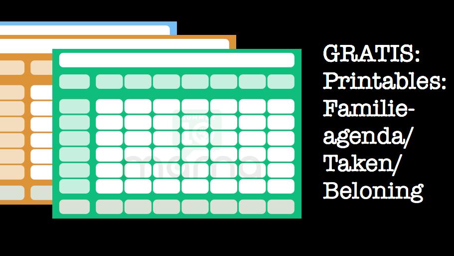 Beloningssysteem, takenlijst, familieagenda: 3-in-1 Printable
