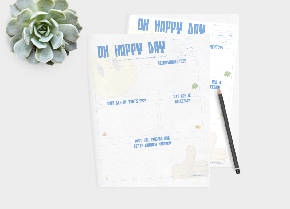 Printable Oh happy day – GRATIS (NIEUW IN DE SHOP)