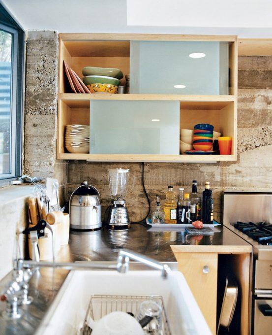Keukenkastjes met schuifdeur