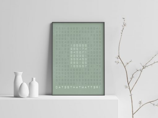 DTM poster grijs groen