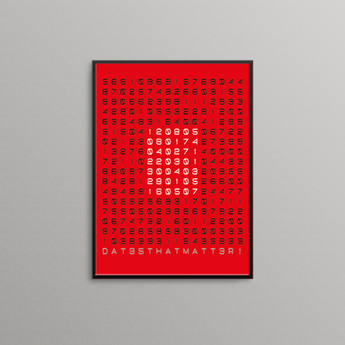 poster speciale datums rood