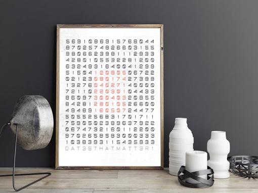 poster speciale datums wit industrieel