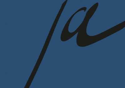 Trouwposter  nachtblauw